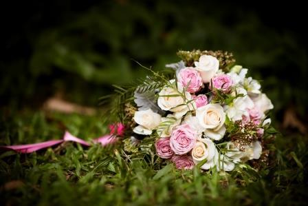 Small wedding package florals